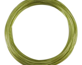 Roll scroll wire lime green color 1 mm aluminum wire 10 meters