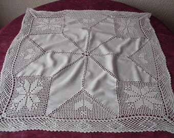 Lovely tablecloth with crochet lace