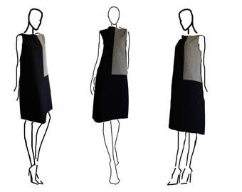 Linen and cotton sleeveless Twist dress