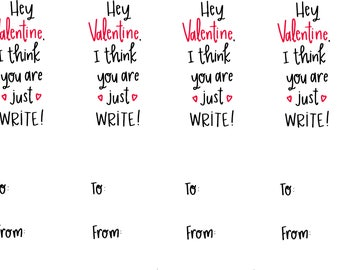 Just Write Valentine's Day Printable