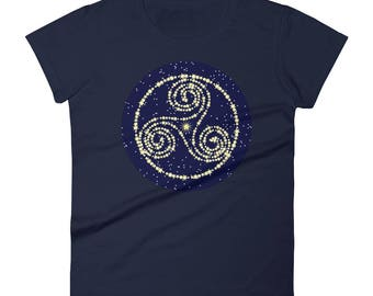 T-Shirt - Ladies Sizes - Constellation Triskelion Women's short sleeve t-shirt - Design by Wendy Wilson of Magic in Your Living Room