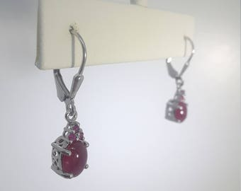 Ruby Earrings with lever back