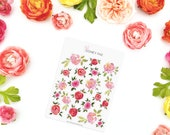 Warm up Roses Stickerset-watercolor sticker-pretty planning-scrapbooking-bullet journaling
