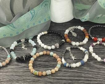 Women jewelry, stretch bracelet, jewelry handmade, women gift, bracelet beads