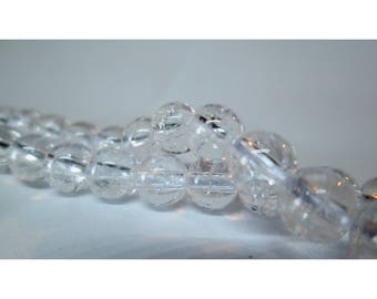 Crystal Crackle - 10 beads 6mm