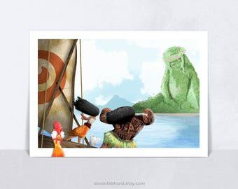 Disney Moana Alternative Movie Poster, Wall Decor, Moana Art, Moana Gift, Moana Print, Moana Poster, Disney Poster, Disney Princess