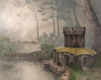 Pastel drawing - Sintra