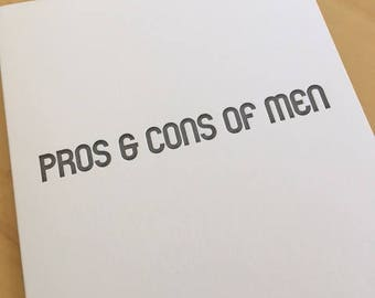 Pros & Cons of Men