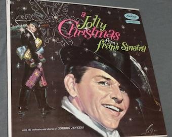 Frank Sinatra- A Jolly Christmas- LP Record- Original Issue- Vinyl- Old Blue Eyes