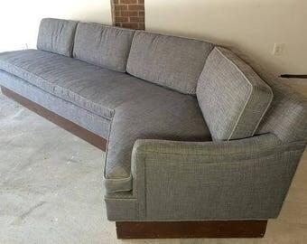 Harvey Probber Rare newly upholstered Boomerang Sofa