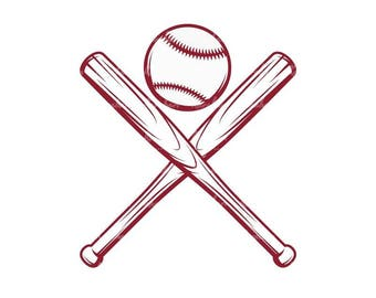 Baseball and bat Svg,Baseball SVG ,baseball svg files,baseball svg cut files,eps,dxf,png Digital Clipart Vector Cricut Cut Cutting Download