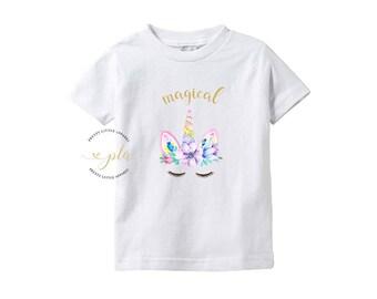 Unicorn Shirt, Unicorn Birthday, Baby, Baby Shower Gift, Shirt, Baby Clothes, Baby Girl, Baby Shower, Infant Shirt, Baby Girl Clothes