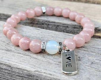 Lovely Charm Bracelet / Love Bracelets / Love You More Bracelet / Stone Bracelets / Womens Bracelets / Love Bracelet / Jewelry Gifts