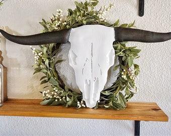 Boho Plain Steer Skull