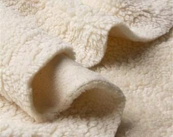 ORGANIC COTTON TEDDY Fabric - 140cm wide/4.6ft