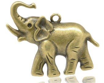 Bronze Elephant pendant 38 x 27mm