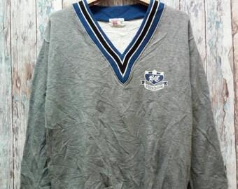 Sweatshirt V Collar Good Design Good Condition Sport Design
