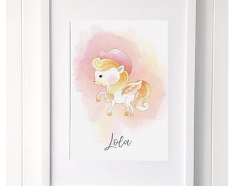 Unicorn 'Lola' Print