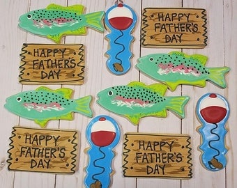 Fathers Day Fishing Cookies