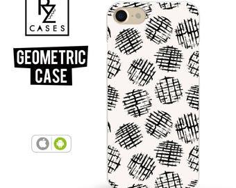 Geometric Case, iPhone 7 Case, Round Phone Case, iPhone 6 Case, Geometric, iPhone 7 Plus, iPhone 6 plus, Samsung Galaxy Case, iPhone 7 Clear