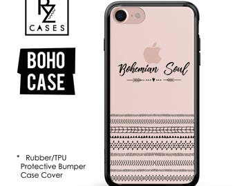 Boho Phone Case, Boho iphone Case, iPhone 7 Case, iPhone 6 Case, Bohemian Soul, Love Case, iPhone 7 Plus Case, Rubber, Bumper Case