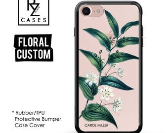 Floral Phone Case, iPhone 7 Case, iPhone 6s Case, Personalized Case, Floral iPhone Case, iPhone 5 Case, Rubber Case, Bumper Case