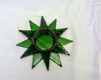 Star Candle Holders-Tiffany, stained glass, candle holder