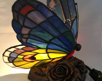 One  Tiffany style butterfly lamp