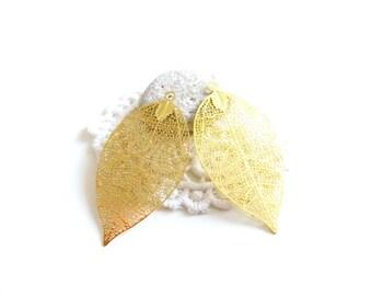 1 pen 50x26mm goldtone filigree pendant