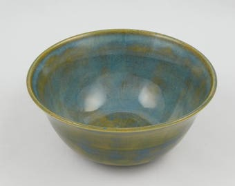 Ceramic Wheel Thrown Bowl - Ocean Dusty Blue Bowl - Handmade Pottery Bowl