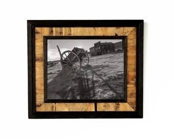 "MED/LG Rustic ""Western"" Reclaimed Wood Frame (Dark Brown) / rustic frames / rustic wooden frames / shabby chic frame / reclaimed wood frames"