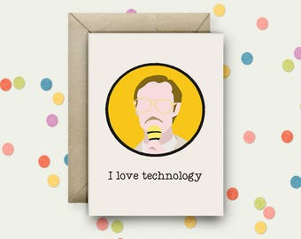 Napoleon Dynamite Pop Art and Quote A6 Blank Greeting Card with Envelope
