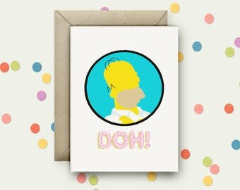 Doh! Pop Art and Quote A6 Blank Greeting Card with Envelope