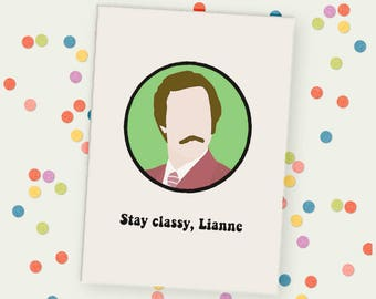 Personalised Anchorman Unframed Print