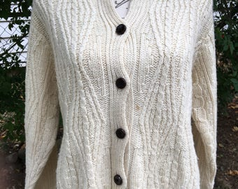 Beautiful Vintage L.L. Bean Sweater Made in Ireland