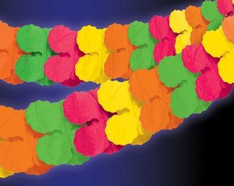 Neon Paper Garlands 3.65m