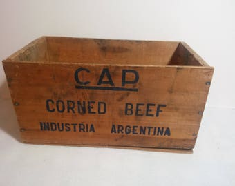Wooden Corned Beef Crate