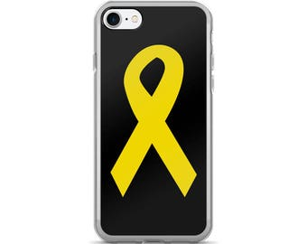 Yellow Ribbon iPhone 7/7 Plus Case, Yellow Awareness Ribbon, Awareness Ribbon Phone Case, Yellow Ribbon iPhone Case