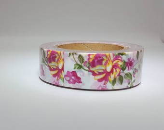 Pink and Yellow Floral Washi Tape