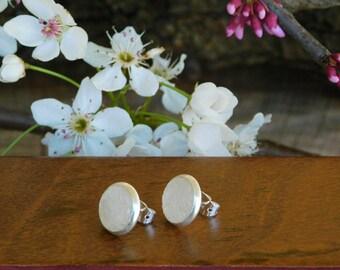Rose quartz raw crystal earrings