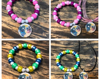 Puppy dog pals party favors.Puppy dog pals bracelet.Puppy dog pals pendant necklace.Puppy dog pals jewelry.