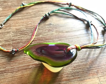 Hand Made Glass Necklace