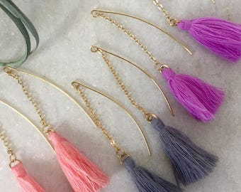 Wool Tassel Earrings