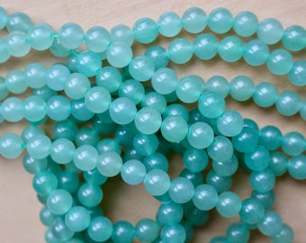 8mm Aventurine beads, full strand, natural stone beads, round, 80014