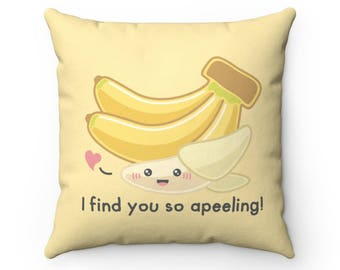 I Draw Foodles Square Throw Pillow - So Apeeling