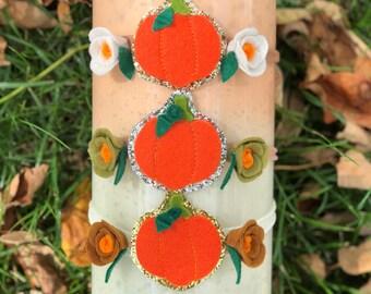 Pumpkin headband, felt halloween headband, felt pumpkin, halloween exclusive