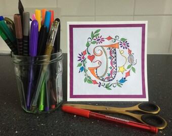 Handmade birthday card letter