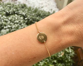Enchanted Rose Beauty and the Beast Inspired Disc Bracelet