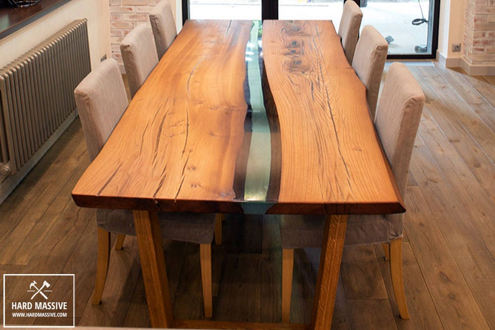 Wood Dining Table Epoxy With Live Edge