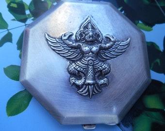 Vintage silver powder compact.